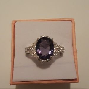 Jewelry - Brand new  amethyst gemstone size9